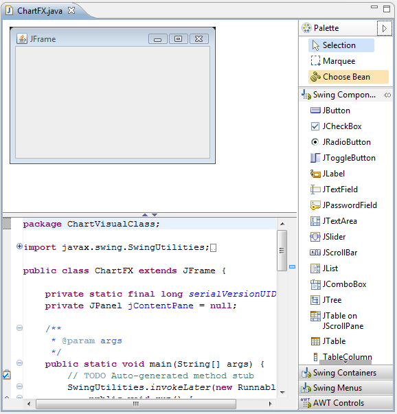 Chart FX 7 for Java Desktop - Using Chart FX in EclipseEdit